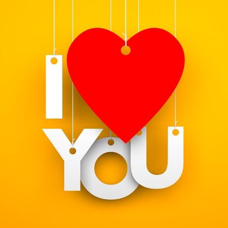 te amo: Te amo. Imagen conceptual