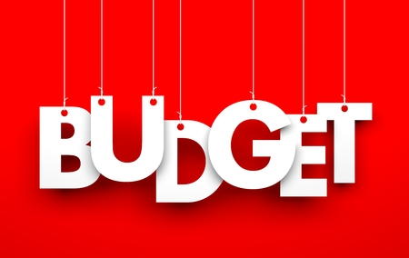 home expenses: Budget. Word on strings. Business concept