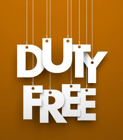 tax tips: Duty Free. Text on the string Stock Photo