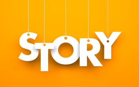 Story. Texto en las cuerdas Foto de archivo - 32961935