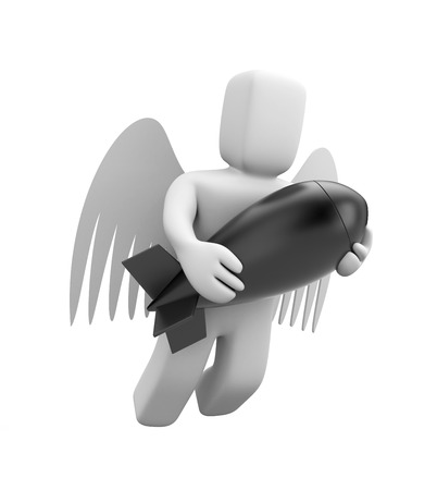 Angel with bomb photo