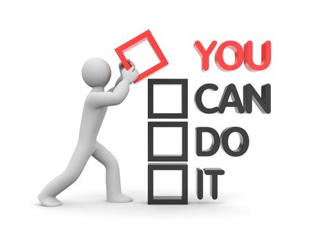 tu puedes: Usted puede hacerlo Foto de archivo