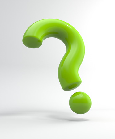 question concept: 3d question sign Stock Photo