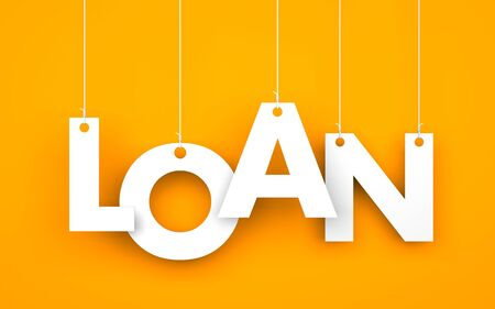 payday: Loan. Text on the ropes
