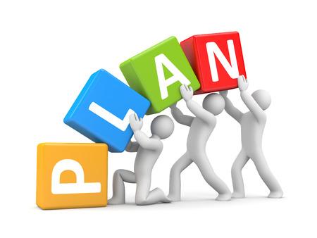 group plan: Plan Stock Photo
