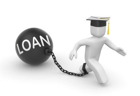 education loan: LOAN. Education concept