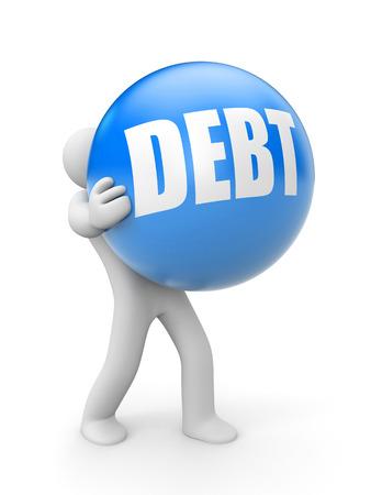 economic recovery: Debt Stock Photo