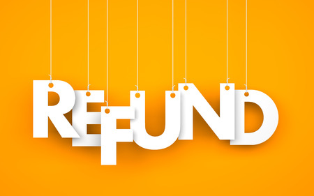 refunds: Refund. Text on the ropes
