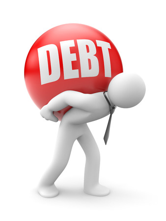 economic recovery: Debt isolated in white