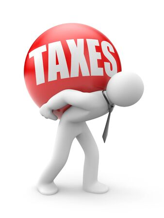 fetter: Taxes  isolated in white