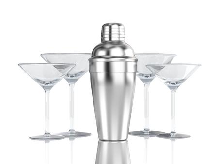 alimentos y bebidas: Coctelera con vidrio