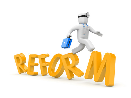 reform: Reform of Medicine in USA Stock Photo