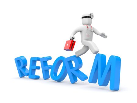 wobbly: Reform of Medicine in USA Stock Photo