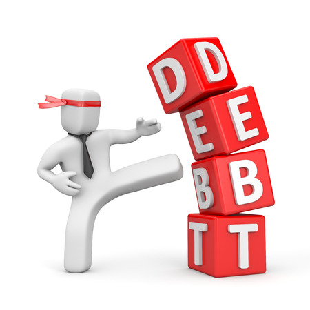 destroy: Debt Stock Photo