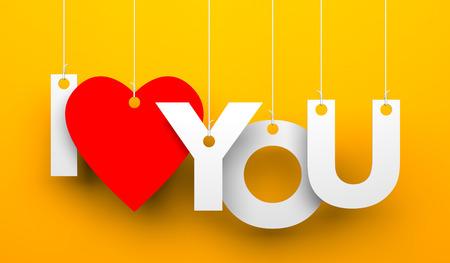 liebe: Illustration für Valentinstag. Isoliert auf weißem