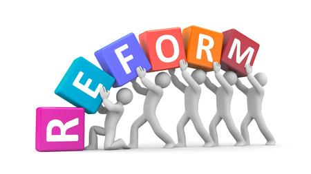 reformation: Reform  concept 3d illustration image