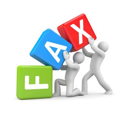 Fax concept 3d illustration image illustration