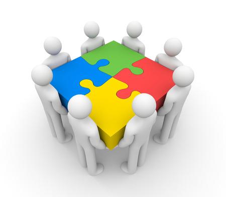 liderazgo empresarial: Trabajo en equipo concepto