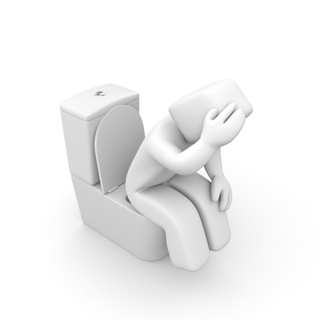 toilet bowl: Symptoms concept 3d illustration image Stock Photo