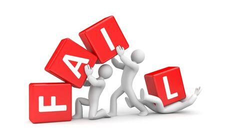Fail concept 3d illustration image Stock Photo