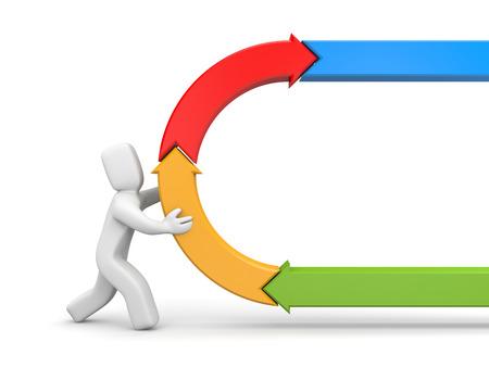 ciclo de vida: 3d ilustración imagen negocios concepto metáfora