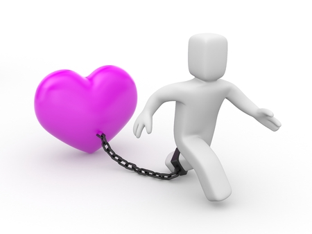 Chains of love Stock Photo