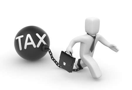 unchain: Taxes concept 3d illustration image