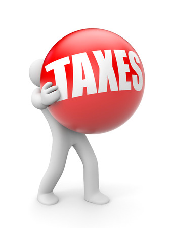 Taxes isolated in white  Stock Photo