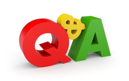 question and answer: Question and answer concept