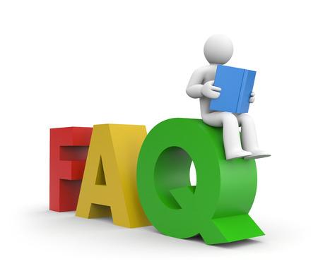 whose: FAQ Stock Photo