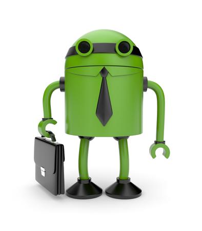 jackplug: Robot worker Stock Photo