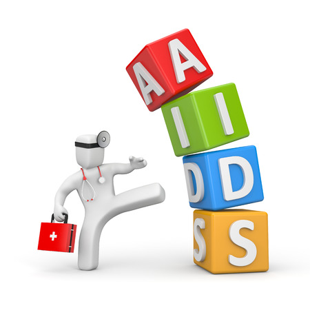 hiv ribbon: Aids Stock Photo
