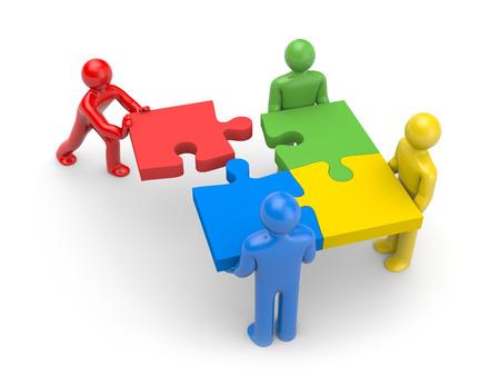 Partnerschaft Standard-Bild
