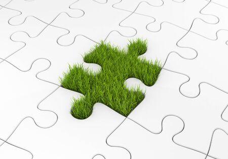 lea: Business concept. Eco metaphor Stock Photo