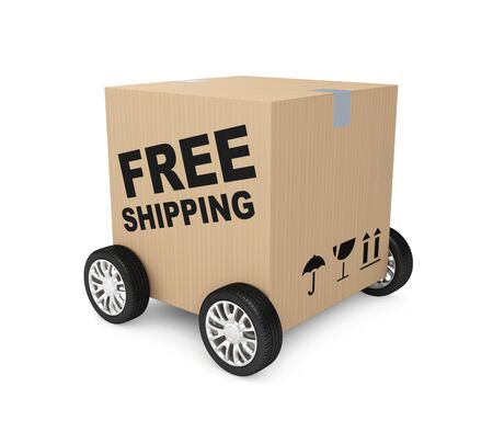 shipping package: Transportation concept