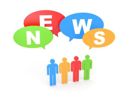 News. Gossip Stock Photo