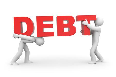 debt: Debt Stock Photo