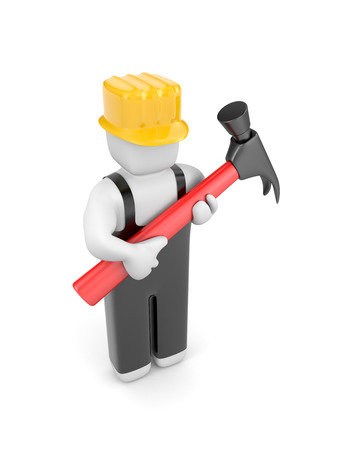 installer: Manual worker Stock Photo