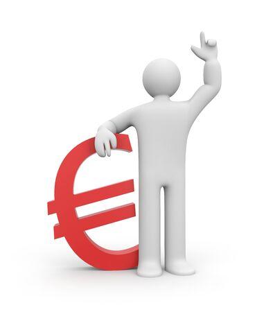 eur: Finance metaphor. Isolated on white