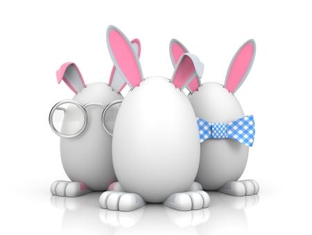 Illustration for Easter. Isolated on white