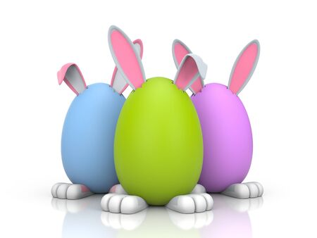 Illustration for Easter. Isolated on white