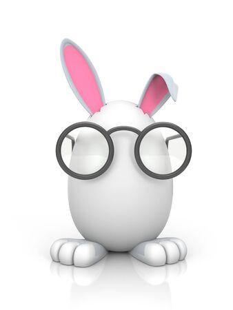 animalitos tiernos: Ilustración para la Pascua. Aislado en blanco