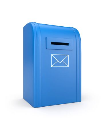 await: Mailbox isolated on white