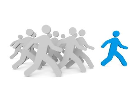 Leadership concept. Isolated on white Standard-Bild