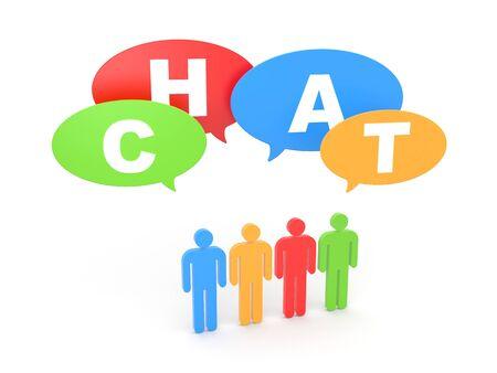 Communication concept. Isolated on white Stock Photo
