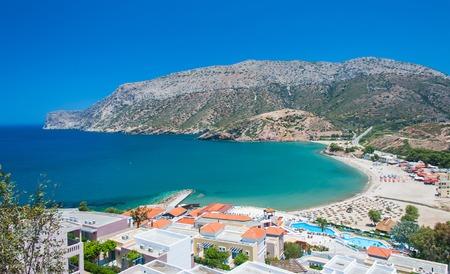 beach landscape: Crete beach. Landscape shot. Greece