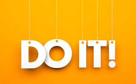 motivational: Do it! Conceptual business image Stock Photo