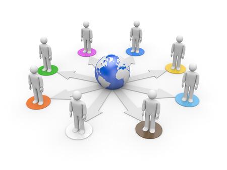 human figures: International generation. Global communication concept. Isolated on white