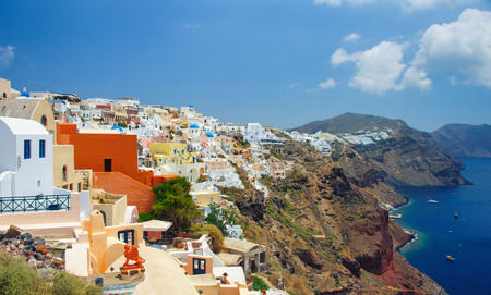 iconic: Santorini, Oia. Travel in Greece Stock Photo