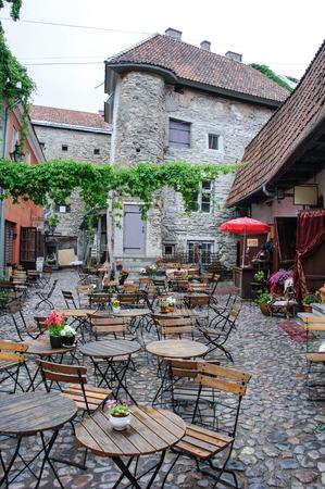 tallinn: Old town cafe in Tallinn